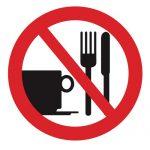 Забраняващ знак, Знак забранена консумация на храни и напитки
