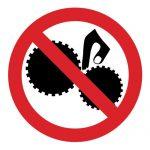 Забраняващ знак, Знак забранено докосването при работещи елементи