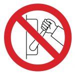 Забраняващ знак, Знак забранено изключването