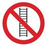 Забраняващ знак, Знак забранено за стълби, Стълбите забранени