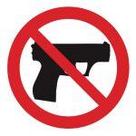 Забраняващ знак, Знак забранено за оръжия, Оръжията забранени