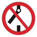 Забраняващ знак, Знак забранено отварянето