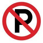 Забраняващ знак, Знак забранено паркирането