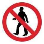 Забраняващ знак, Знак забранено преминаването