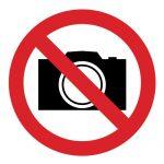 Забраняващ знак, Знак забранено заснемането, Знак забранено за фотокамери, Знак снимките забранени