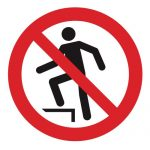 Забраняващ знак, Знак забранено стъпването на повърхността