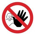Забраняващ знак, Знак забранено преминаване