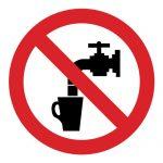 Забраняващ знак, Знак забранено пиенето на вода, Знак водата не е годна за пиене