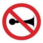 Забраняващ знак, Знак забранено подаването на звуков сигнал