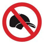Забраняващ знак, Знак забранени шапки с козирки