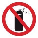 Забраняващ знак, Знак забранени аерозоли