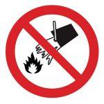Забраняващ знак, Знак забранено гасенето с вода