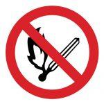 Забраняващ знак, Знак забранено паленето на огън