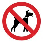Забраняващ знак, Знак забранено за кучета