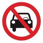 Забраняващ знак, Знак забранено за моторни превозни средства