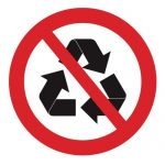 Забраняващ знак, Знак забранено за рециклиране