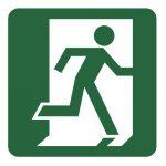 Знак за евакуация - авариен изход надясно