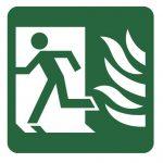 Знак за евакуация - авариен изход наляво