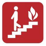 Знак за пожарна безопасност - използване на стълбите при пожар
