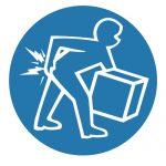 Задължаващ знак, Задължително повдигай тежки предмети правилно