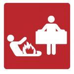 Знак за пожарна безопасност - противопожарно одеало