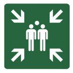 Знак за първа помощ, авариен знак - сборен пункт
