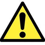 Предупредителен знак, Знак внимание