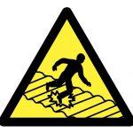 Предупредителен знак, Знак внимание чуплива повърхност
