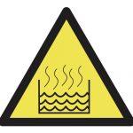 Предупредителен знак, Знак внимание горещи течности