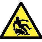 Предупредителен знак, Знак внимание хлъзхава повърхност, Внимание опасност от подхлъзване