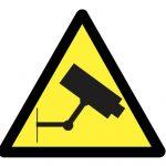Предупредителен знак, Знак внимание видеозаснемане, Внимание използват се камери