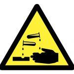 Предупредителен знак, Знак внимание корозивни вещества