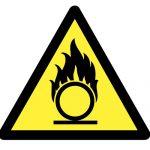 Предупредителен знак, Знак внимание материал, поддържащ горенето