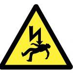 Знак за внимание, Внимание опасност от електрически ток, Внимание опасност от електрически удар