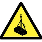 Знак за внимание, Внимание опасност от преминаващи предмети, Внимание опасност от падащи предмети
