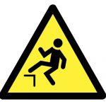 Знак за внимание, Внимание опасност от падане, Внимание опасност от случайно падане