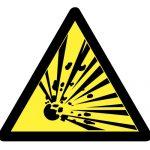 Знак за внимание, Внимание опасност от експлозия, Внимание риск от експлозия