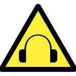 Знак за внимание, Внимание опасност високи нива на шум, Внимание високо ниво на шум