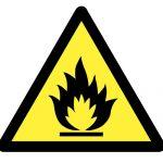 Знак за внимание, Внимание силно възпламенимо