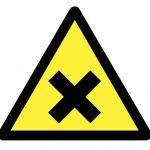 Знак за внимание, Внимание опасност от дразещ или вреден материал, Внимание вреден материал
