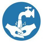 Задължаващ знак, Задължително измиване на ръцете след работа