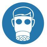 Задължаващ знак, Задължително използвай лицева маска с филтър