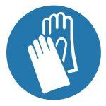Задължаващ знак, Задължително защитни ръкавици